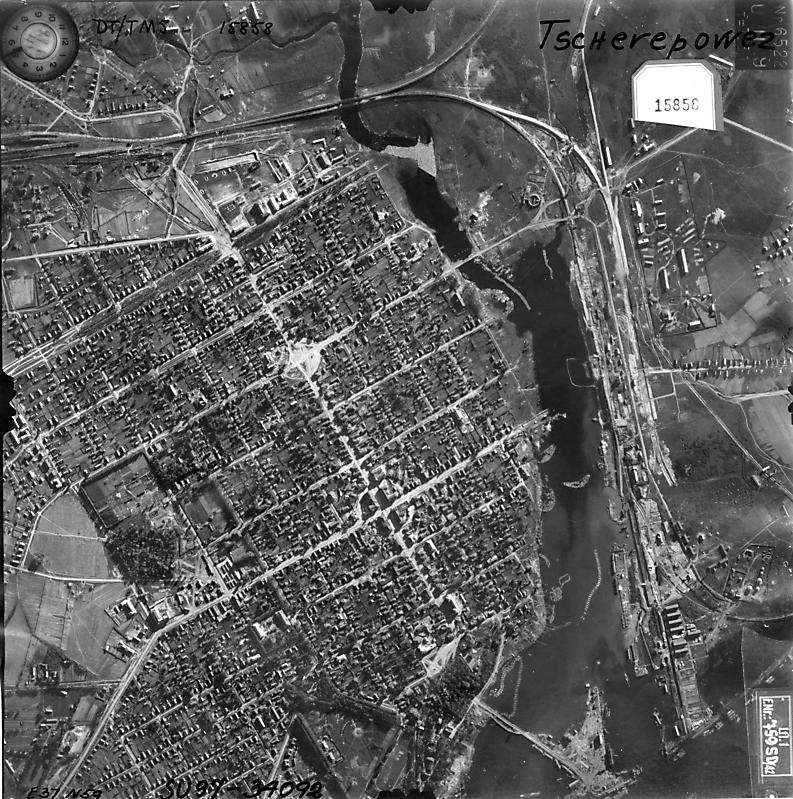 Аэрофотосъемка с немецкого самолета-разведчика 27 июня 1942 года