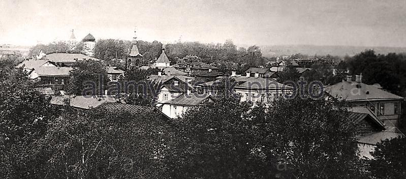 Вид с башни Городской Управы на Леушинское подворье и Коржавское кладбище_1
